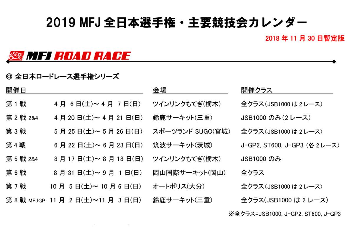 全日本ロードのみカレンダー