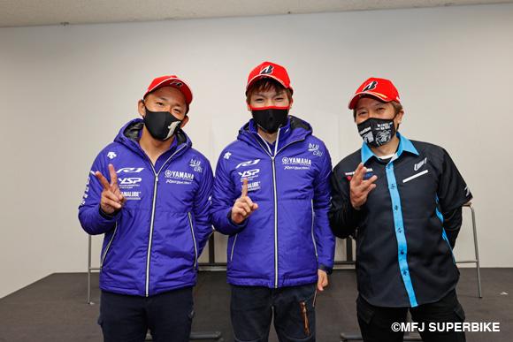 レース1表彰台の3人