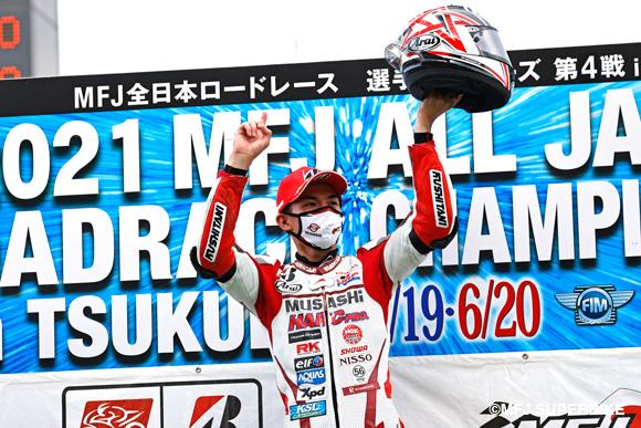 【速報】埜口遥希がレースを制してクラス初優勝!